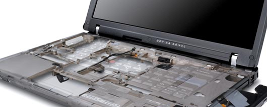 Imagem da estrutura reforçada RollCage do notebook Lenovo ThinkPad