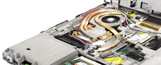 Imagem do sistema de refrigeração dos notebooks ThinkPad da Lenovo