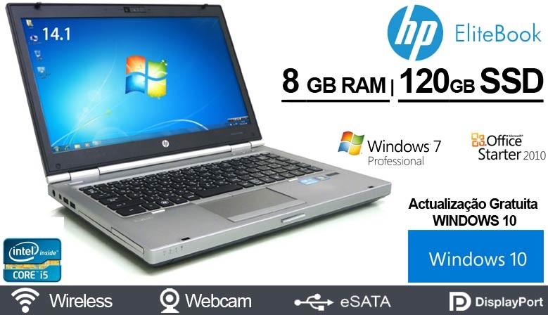 Portatil PREMIUM HP Elitebook 8470p Intel Core i5-3320M - 8GB RAM - SSD - Windows 7 Pro