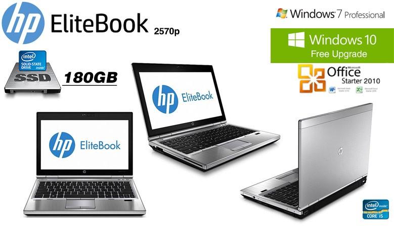 Ultraportatil HP Elitebook 2570p Intel Core i5-3210M - 180GB SSD