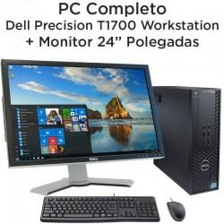 """PC Completo Dell Precision T1700 Workstation + Monitor 24"""" Ecrã plano [Nvidia Quadro 600] Windows 10 Pro upgrade"""