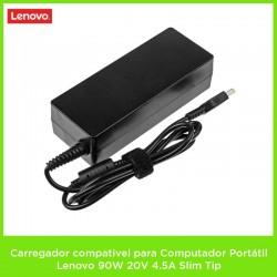 Carregador compativel para Computador Portátil Lenovo 90W 20V 4.5A Slim Tip