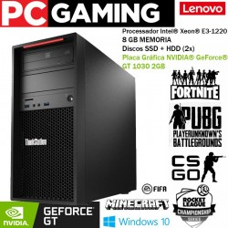 PC Gaming Lenovo Quad Core Intel Xeon E3-1220 v3 [240 SSD+500HDD] [8GB RAM] NVIDIA® GeForce® GT 1030 2GB|Windows 10 Pro upgrade