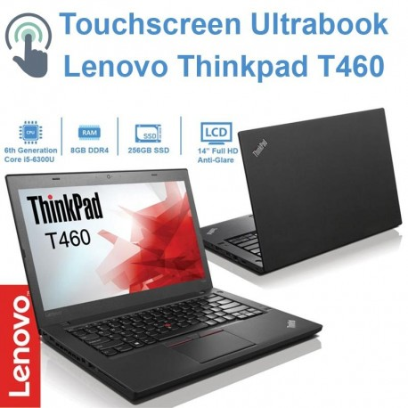Ultrabook Lenovo Thinkpad T460 Touchscreen (Skylake 6ª Geração) i5-6300U|240 SSD|8GB RAM| Windows 10 Pro Upgrade