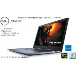 "Portátil para Jogos Dell G3 17"" FHD IPS|Intel® i5-8300H (Coffee Lake 8ª Geração)|NVIDIA GTX 1050 Ti|SSD+HDD|Windows 10"