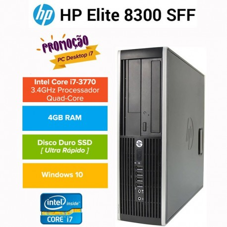 PROMO: Desktop HP 8300 PRO Elite Business| Intel QUAD CORE I7 3770|SSD| Windows 10 pro upgrade