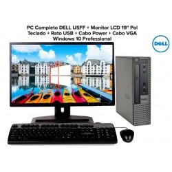 """PC Completo DELL Optiplex Pentium® G640 + Monitor LCD 19"""" Ecrã plano Windows 10 Professional"""