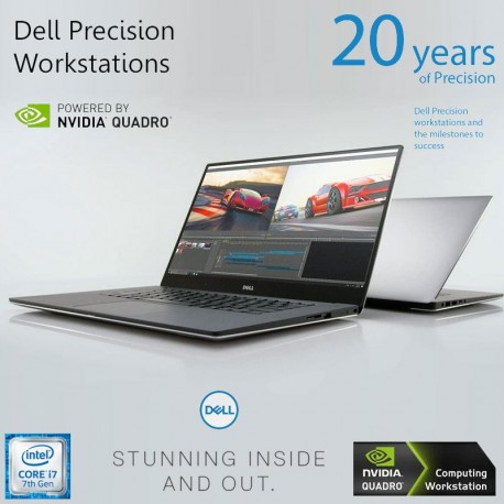 Ultrabook Workstation Dell Precision 15.6″FHD  i7-7820HQ- 7ªGeração DDR4 SSD+HDD Quadro M1200(4GB GDDR5) Win 10