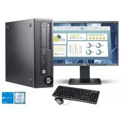 "PC Completo HP ProDesk 600 + Monitor LCD 22"" Wide|6ª geração Intel Skylake I3-6100| Windows 10 upgrade"