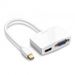 Adaptador/Conversor 2-in-1 Mini DP para HDMI VGA