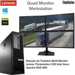 Workstation Lenovo C30 Intel Xeon Hexa Core E5-2620 v2|Nvidia Multi Display Gpu Quadro NVS 450|[8GB RAM] Windows 10 Pro Upgrade
