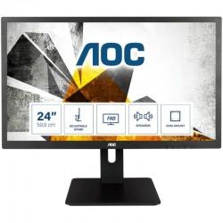 "Monitor profissional AOC- 59,9 cm (23.6"")Full HD(1080p)-LED) |2 ms|HDMI, VGA, DVI - Som Incorporado"