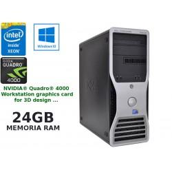 Estação de trabalho Dell Precision T5500 Intel Xeon [24GB RAM]-[QUADRO 4000 - 2 GB] Windows 10 Pro upgrade