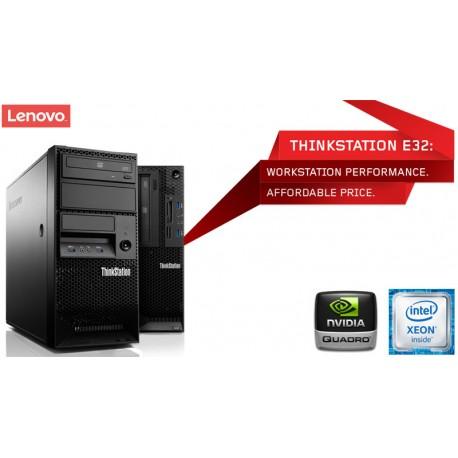 Lenovo ThinkStation E32 Workstation alta performance Intel Xeon E3-1220 v3 [Quadro K2000 - 2GB] Windows 10 Pro upgrade