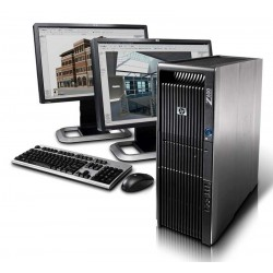 Workstation HP Z600 Tower DUAL QUAD CORE Intel Xeon Windows 7 Professional