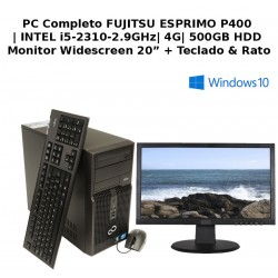 "PC Completo com Monitor Fujitsu INTEL CORE I5 + HD LED 20"" Ecrã Widescreen"