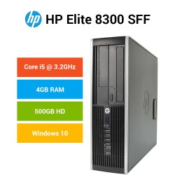PC Desktop HP 8300 Elite Business Intel QUAD CORE I5-3470 Windows 10 pro upgrade