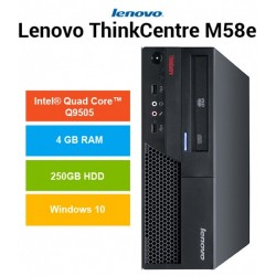 PC Lenovo Thinkcentre M58E Intel QUAD CORE Q9505 Windows 10 Pro upgrade