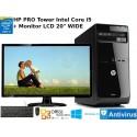 """PC Completo HP PRO Core i5 3470 + Monitor LCD 20"""" Windows 10 Pro upgrade"""