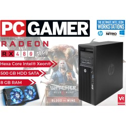 Pro Gaming PC HP Z420 Intel Hexa-Core Intel Xeon E5-2620 [Radeon RX 480 NITRO OC 8GB] [8GB RAM] Windows 10 Pro Upgrade