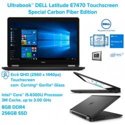 Ultrabook™ DELL Latitude E7470 |TOUCH QHD (2560 x 1440) Special Carbon Fiber Edition Intel i5-6300U [ SkyLake] Windows 10 Pro