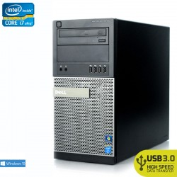 Desktop Dell Premier OptiPlex 9010 Tower Premier Intel Quad Core i7-3770 Windows 10 Pro