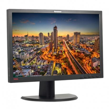 "Monitor profissional Lenovo ThinkVision (61cm) 24"" Wide FHD (1080p) 1920x1200px| VGA+DVI-D |5 ms,Preto"