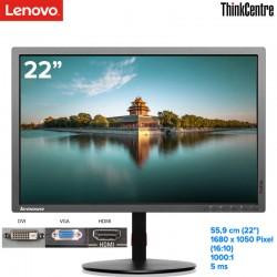 "Monitor profissional Lenovo 22"" (56,3 cm) ThinkVision 1680x1050 WLCD 16:10 1000:1 250cd 5ms VGA+DVI+DP USB lift pivot"