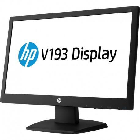 """Monitor HP ecrã plano HP V193 47 cm (18.5"""") HD [1366 x 768], Preto Widescreen"""