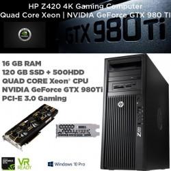 Pro Gaming GTX 980 TI | HP Z420 QUAD CORE Intel Xeon E5-1620 @ 3.60GHz [NVIDIA GTX980TI ] Windows 10 Professional upgrade