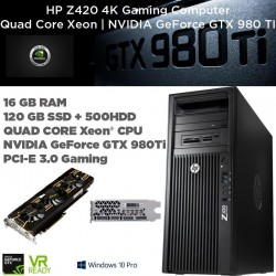 Pro Gaming GTX 980 TI | HP Z420 QUAD CORE Intel Xeon E5-1620 | 3.60GHz [NVIDIA GTX980TI ] Windows 10 Professional upgrade