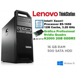 Lenovo ThinkStation S30 Workstation Hexa-Core Intel Xeon E5-1650 [16GB RAM] [QUADRO K2000 - 2 GB] Windows 10 Pro upgrade