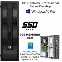 HP EliteDesk 800 Business PC Series Intel Core i5-4670 3.40 GHz - (4ª Geração)[8 GB RAM] [120GB SSD] Windows 10 pro upgrade