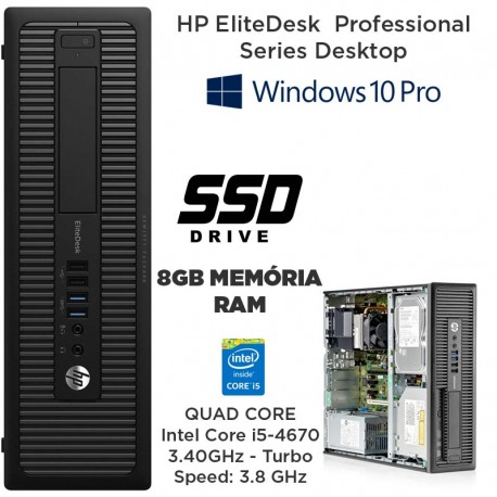 HP EliteDesk 800 Business PC Series Intel Core i5-4670 3.40 GHz - (4ª Geração)[8 GB RAM] [120GB SSD] Windows 10 pro upgrade