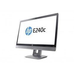 "HP EliteDisplay E240C Monitor de videoconferência 60,5 cm (23.8""), 1920 x 1080 pixels, Full HD, LED IPS, 7 ms, Preto, Prateado"