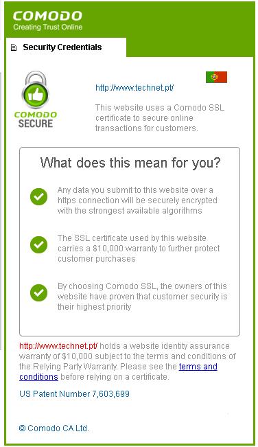 Security Credentials https://www.technet.pt/