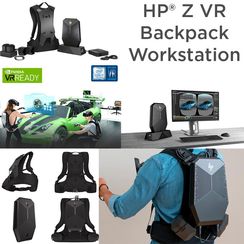 HP Workstation Z VR Backpack i7-7820HQ [ 7ª Gen ] [32GB RAM] [512GB SSD] [QUADRO P5200-16GB] Dock + 2 x Battery Pack W10 Pro