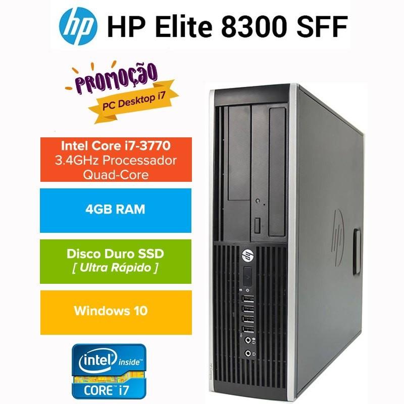 PROMO: Desktop HP 8300 PRO Elite Business  Intel QUAD CORE I7 3770 SSD  Windows 10 pro upgrade