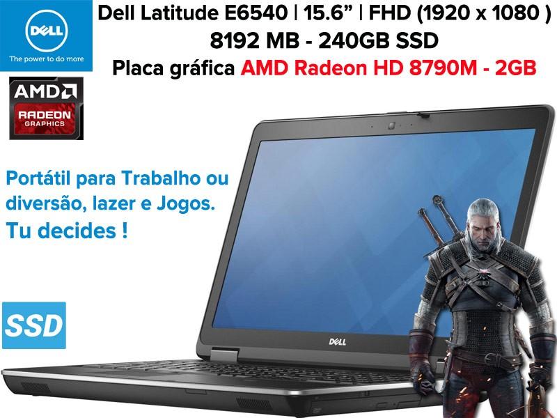 Portátil Empresarial DELL Latitude E6540 [FULL HD 15,6] i7-4810MQ-[HD 8790M (2GB)] |8GB RAM| 240GB SSD|