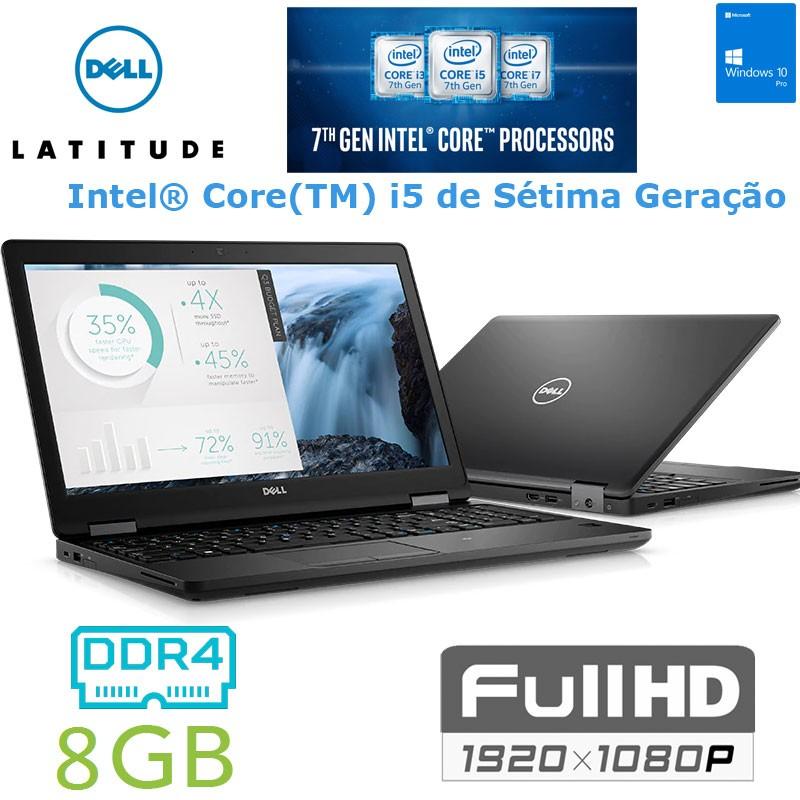 Portátil Premium Empresarial Dell Latitude 5580 FHD IPS| Intel i5-7300U -[Kabylake 7ª Geração] [8GB DDR4] Windows 10 Pro