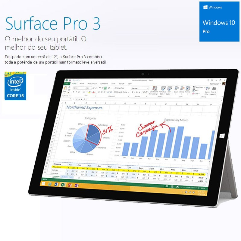 "Microsoft Surface Pro 3 |12"" FHD