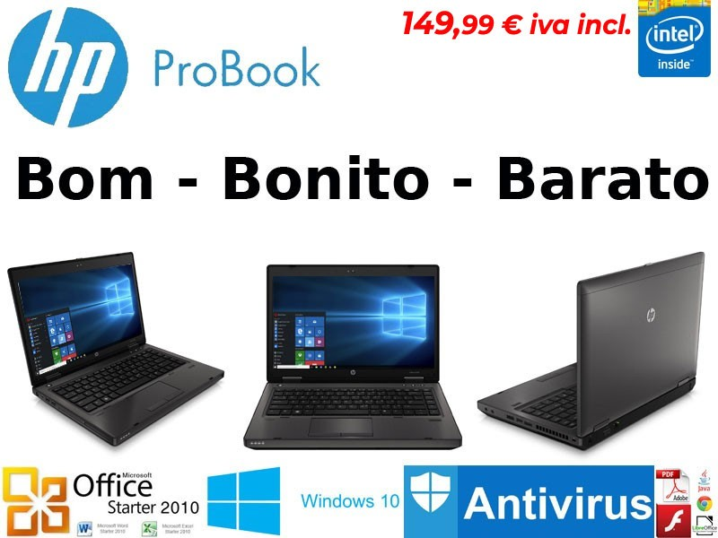 Portatil HP Probook 6460b INTEL B840 Windows 10 PT recondicionado c/garantia